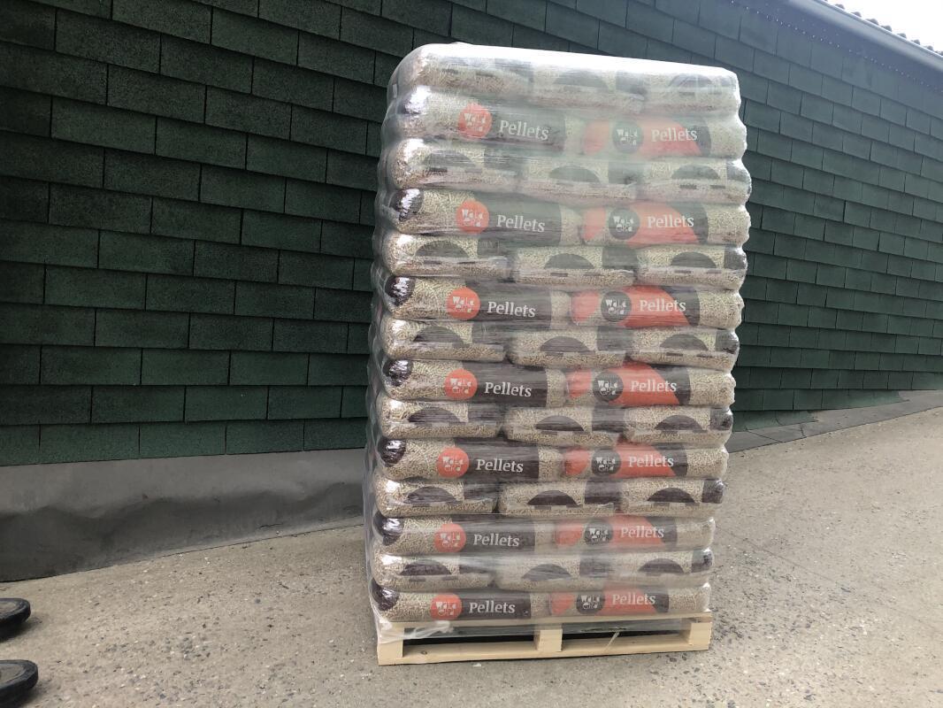 Paleta dřevěných pelet bez ochrany proti UV záření
