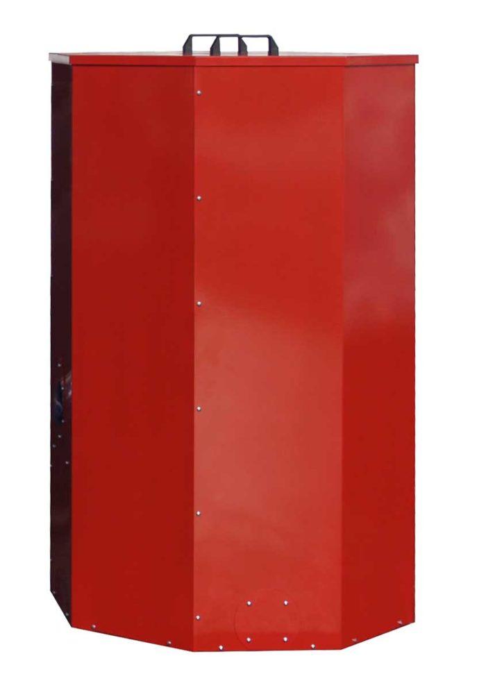 Červená nádrž na pelety Atmos 500 litrů