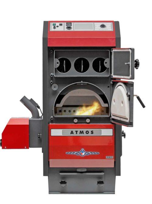 Automaticky kotel na drevene pelety Atmos D20P otevreny