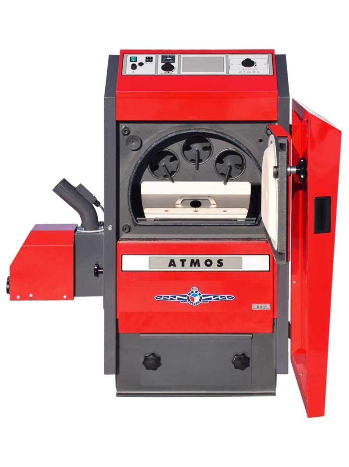 Automaticky kotel na drevene pelety Atmos D14P otevreny