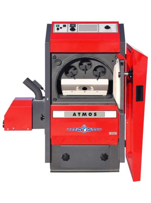 Automaticky kotel na drevene pelety Atmos D25P otevreny